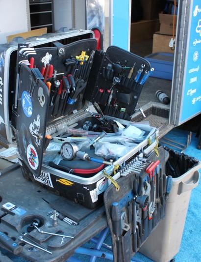 Like most professional mechanics, Joe Staub owns his tools