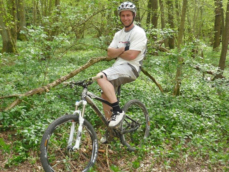 Will Longden is happiest when on his bike