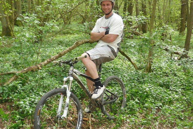 Will Longden is happiest when on his bike