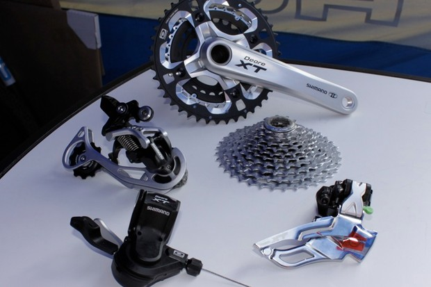 Six components make up the Dyna-Sys drivetrain retrofit; the sixth being the chain, which is missing from this photo
