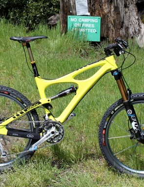 BikeRadar's XT Dyna-Sys equipped test rig