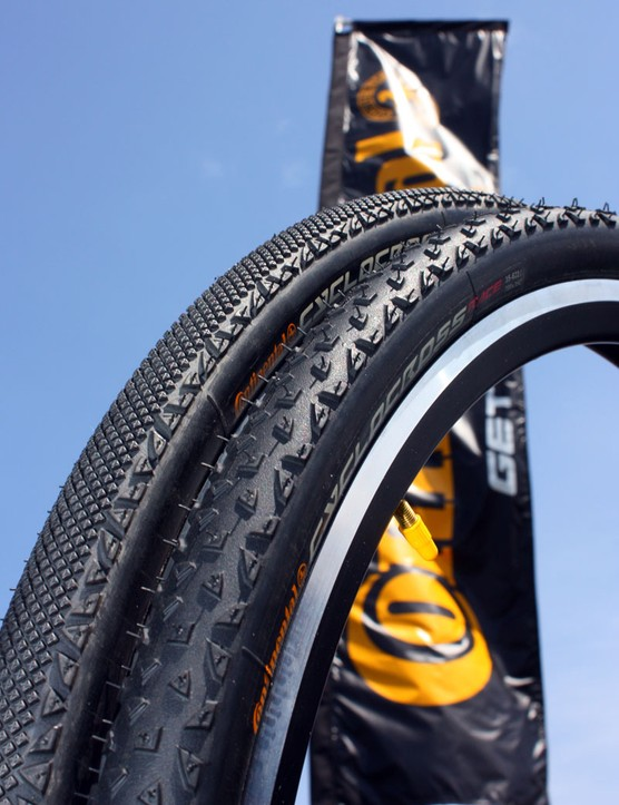 Continental say their tubular 'cross tyres are still a work in progress but that they will offer these tube-type models for the time being to suit most conditions