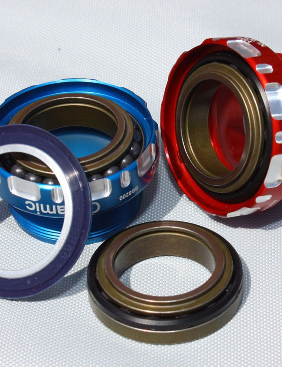Enduro have developed a new fully US-made bearing design that should be on the market by summer. The angular contact design should be far more tolerant of side-loading than current radial-type bottom bracket bearings for improved bearing life