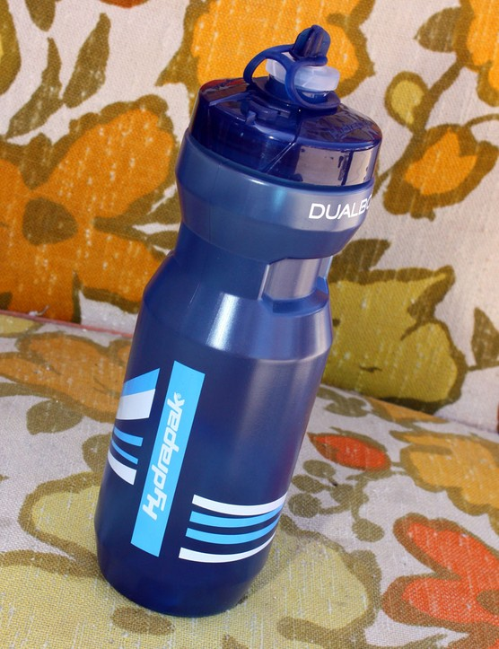 Hydrapak's DualBot bottle features a self-sealing valve plus a high-volume conventional one for when you really want to get the water flowing