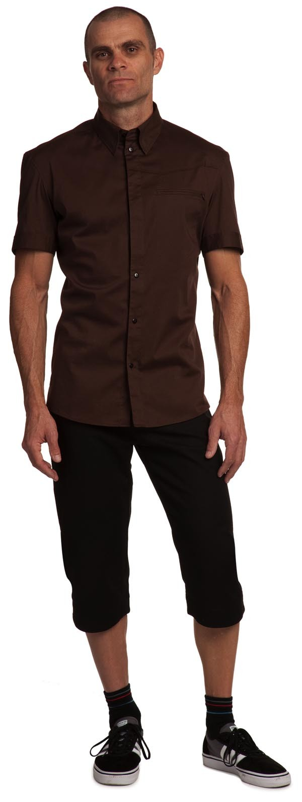 Derny shirt has a longer back and seamless features to reduce chafing