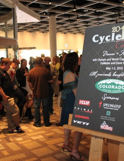 CycleFest Colorado took place at the Palettes Restaurant in the Denver Art Museum.