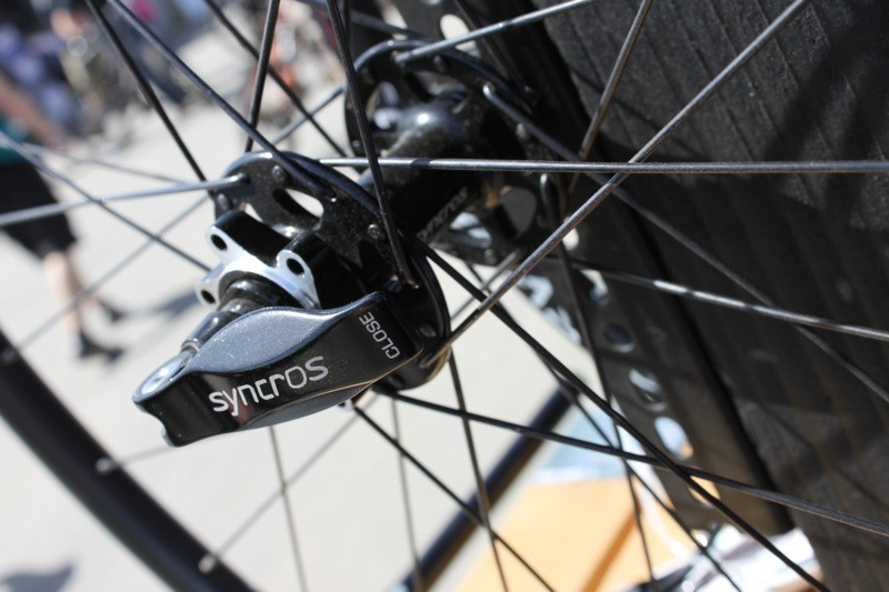 Syncros's new wheels feature large handled quick-releases at the rear and a front 9mm QR option