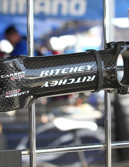 """The Pro 4-axis """"44"""" O/S Matrix Carbon alloy stem is new and combines Ritchey's stiffer """"44"""" base shape with a 6061 alloy base and carbon fibre top wrap. It costs $109.95"""