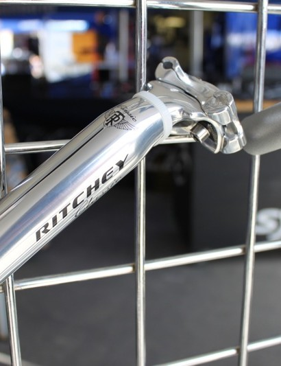 Ritchey's polished alloy Pro two-bolt seatpost