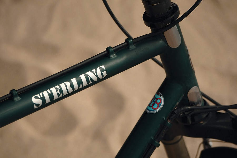 The Sterling is built from Thorn's proprietary heat treated, double butted 858 steel tubing