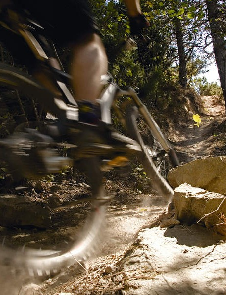 They may be dry, but there are plenty of hazards lurking on the edges of these Italian tracks