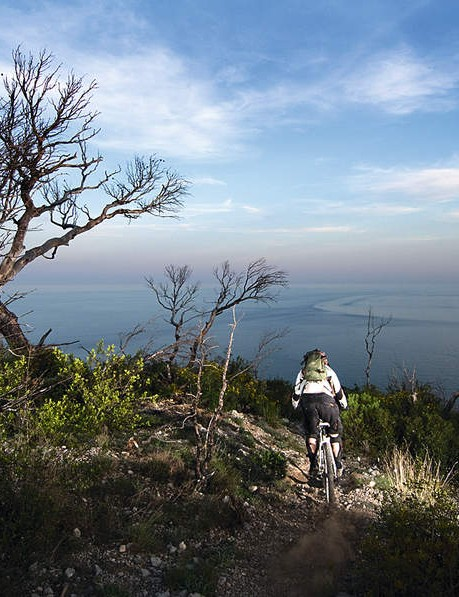 A coastal downhill run with views over the Med is something you don't find every day