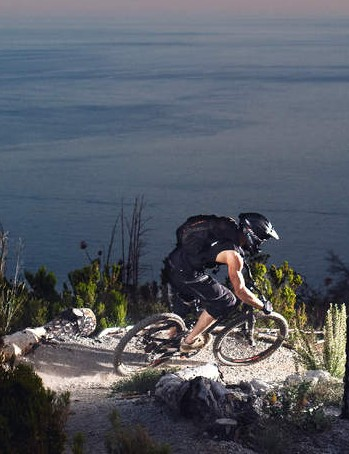 The trails here are perfect for high-speed, head-down downhill riding
