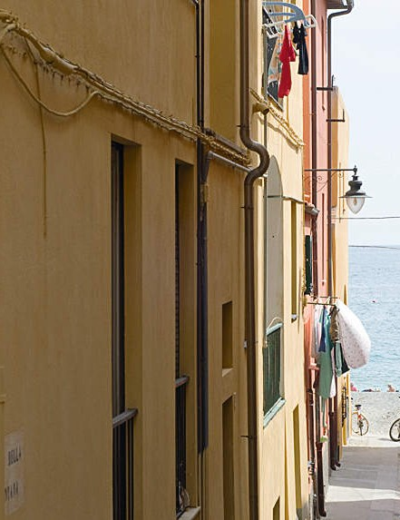 The narrow streets of this seaside town belie its true identity ...