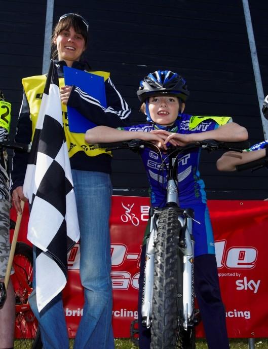 Oscar Bell, British Cycling's Sarah Cleall-Harding, Jonathan Dobson and Samuel Dobson