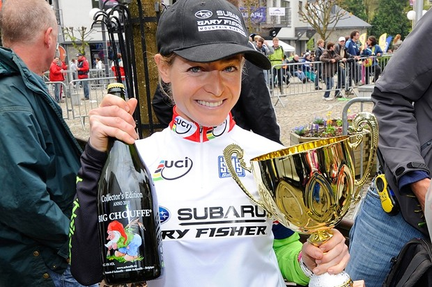 Willow Koerber (Subaru-Gary Fisher) is the first American to lead the mountain bike cross country World Cup since Alison Dunlap in 2002.