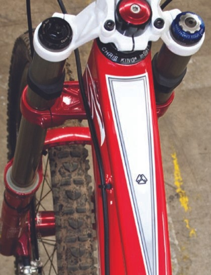 The new V-10 uses an adjustable 1.5in head tube