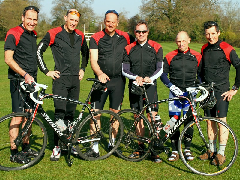 The team at last month's 24-hour race training weekend, minus John Mottram and Francis Paxton due to the Icelandic ash cloud. L to R: Malcolm Cooper, Joff Spencer-Jones, Sir Steve, Peter McConnell, Ian Neville and Nick Spencer-Jones
