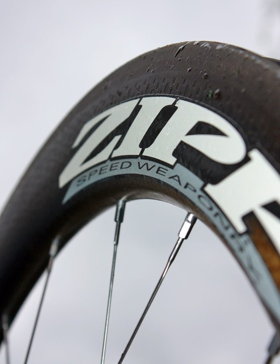 Zipp's dimpled ABLC rim surface makes another appearance on the new 404 Carbon Clincher.