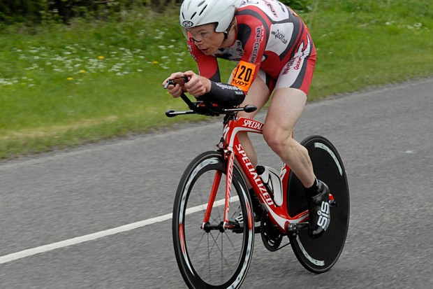 Michael Hutchinson had no problem holding off Matt Bottrill for the win