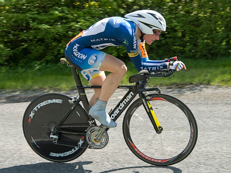 Sarah Storey had another excellent ride to win the women's category