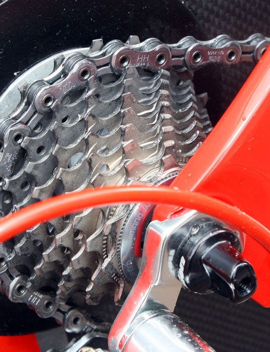 Cofidis stuck with their usual Shimano chains and cassettes for the opening prologue of the 2010 Giro d'Italia