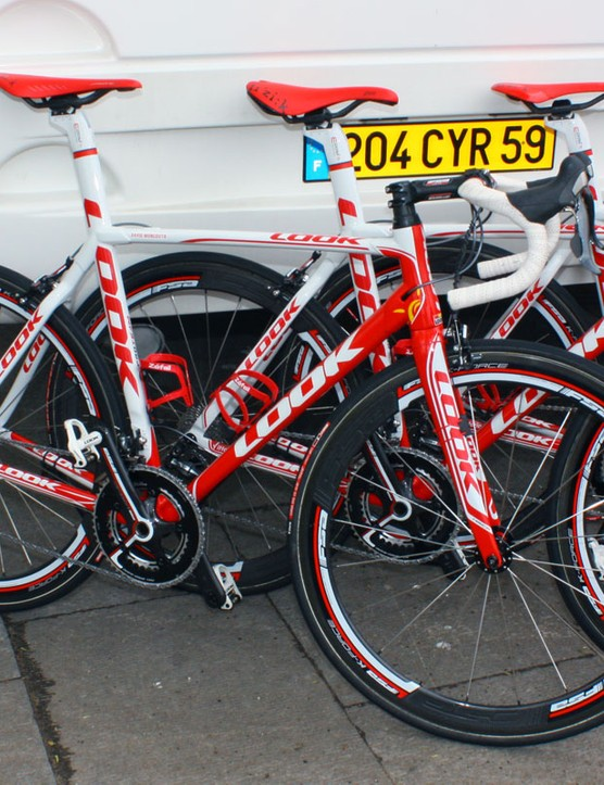 Cofidis road bikes will continue to sport their usual Shimano and FSA drivetrains