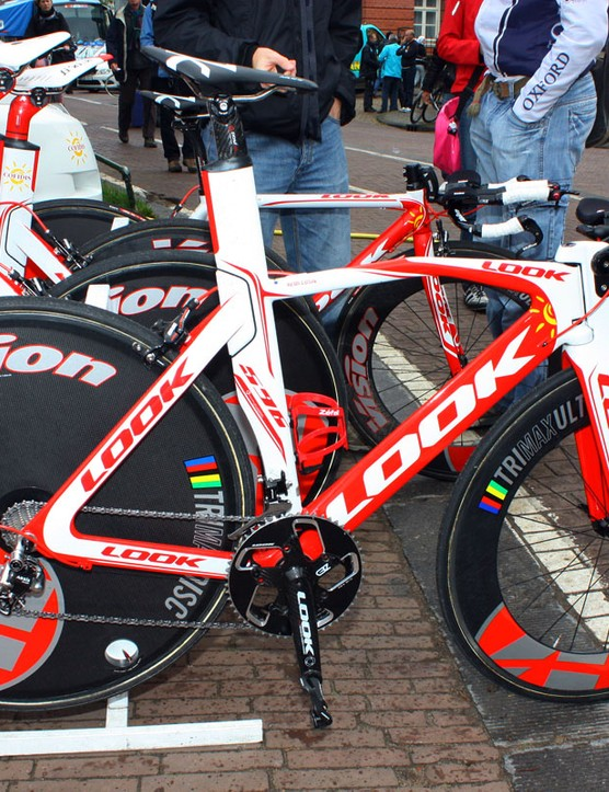 Cofidis's Look 596 time trial bikes were fitted with little-known transmissions from Taiwanese company microSHIFT