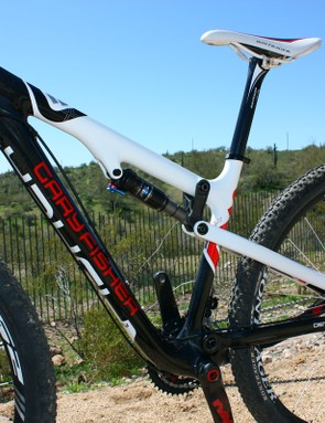 The Superfly 100 frame is all carbon fiber aside from the requisite hardware and rear shock