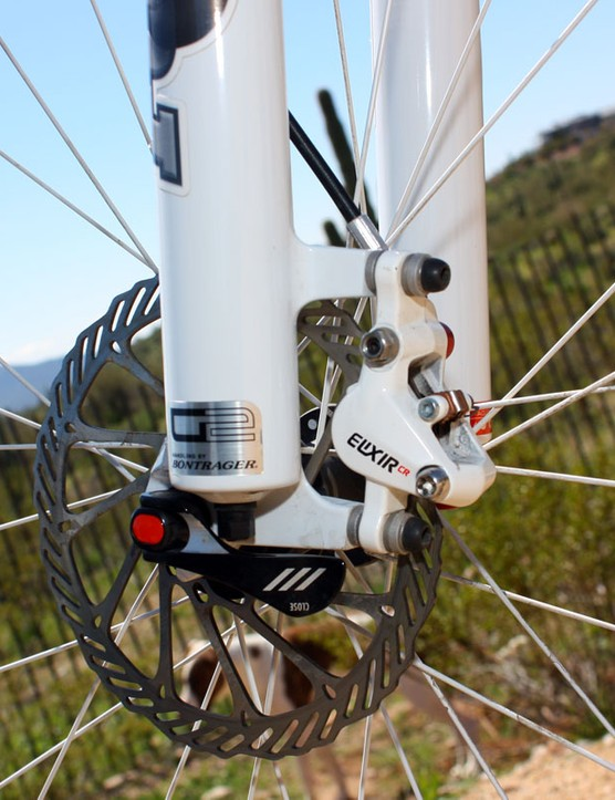 Bontrager-developed G2 front end geometry yields surprisingly agile steering for a 29er