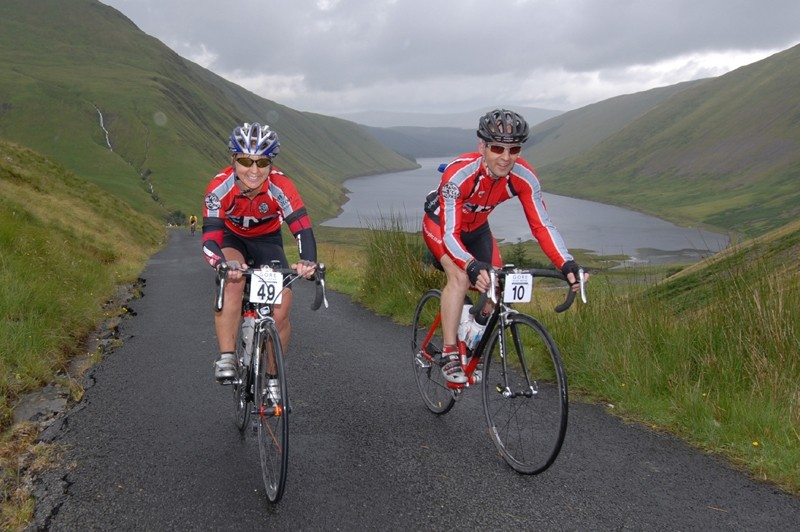 The first CycleOps Power Road Sportive takes place alongside the mountain bike enduro
