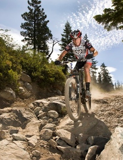 Racing his favorite in Downieville, California.