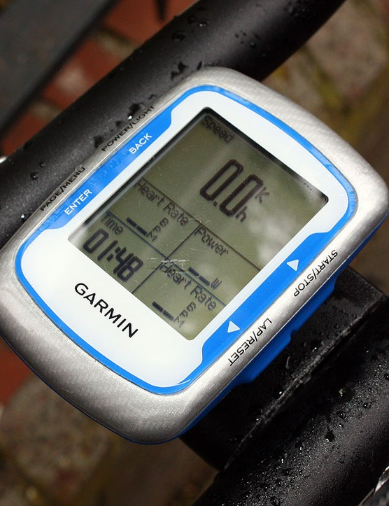 David Millar (Garmin-Transitions) is apparently only interested in a few pieces of key information while racing time trials - and notice that heart rate is included twice.