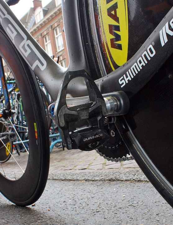 David Millar (Garmin-Transitions) is among the many riders in this year's Giro d'Italia that is testing out Shimano's new carbon-bodied Dura-Ace SPD-SL pedals.