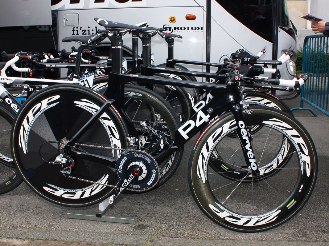 Cervelo's P4 continues to be one of the most striking-looking bikes in the peloton
