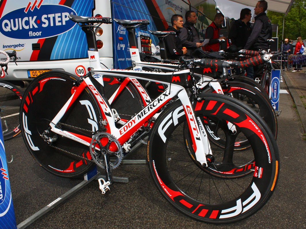 Quick Step are using these Eddy Merckx ETT-1 time trial frames for this year's Giro d'Italia