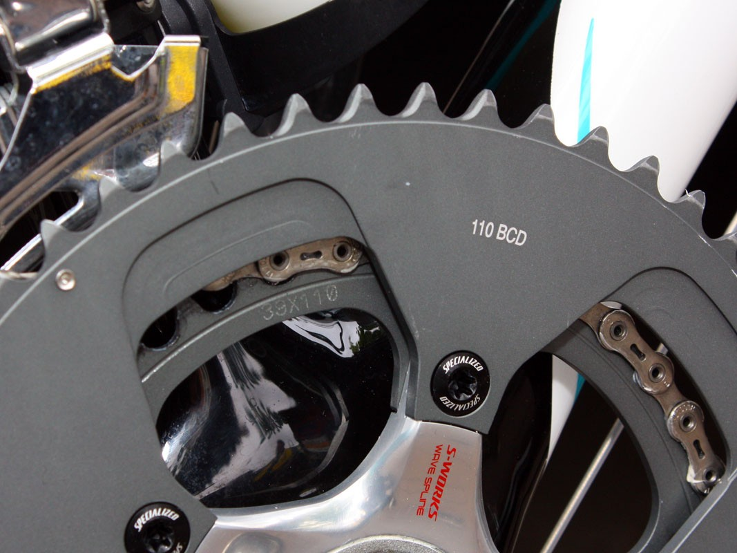 SRAM say consumers will soon have new 110mm BCD rings available to them but only in 52/36T sizes, not these