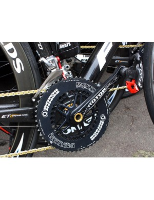 In addition to Cervelo TestTeam, Rotor are supplying cranks, chainrings and chain watchers to Footon-Servetto