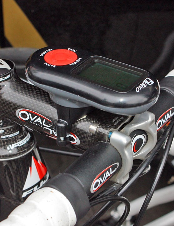 Footon-Servetto riders have turned to iBike's novel iAero computers to track and display their data