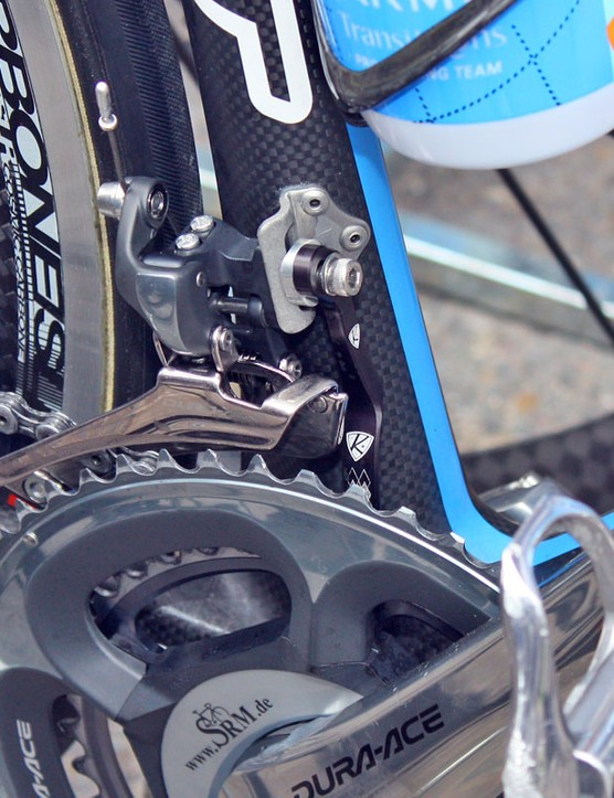 Garmin-Transitions first started using AceCo's K-Edge chain watchers only on the team's time trial bikes but have since decided to install them on everything