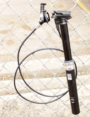 RockShox's new Reverb height-adjustable seatpost features 125mm of travel and a hydraulic remote