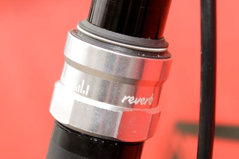 The Reverb uses an 'energised seal', which refers to the spring you can see at the top of the seal holding it on the shaft
