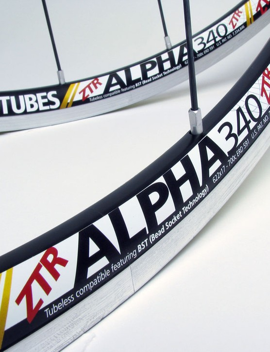Claimed weight for a bare ZTR Alpha 340 rim is just 350g