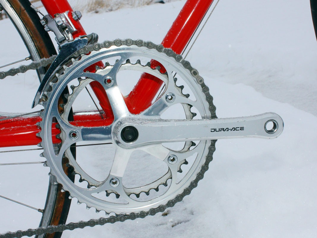 Shimano's Dura-Ace crankarms once wore a spartan, blocky form