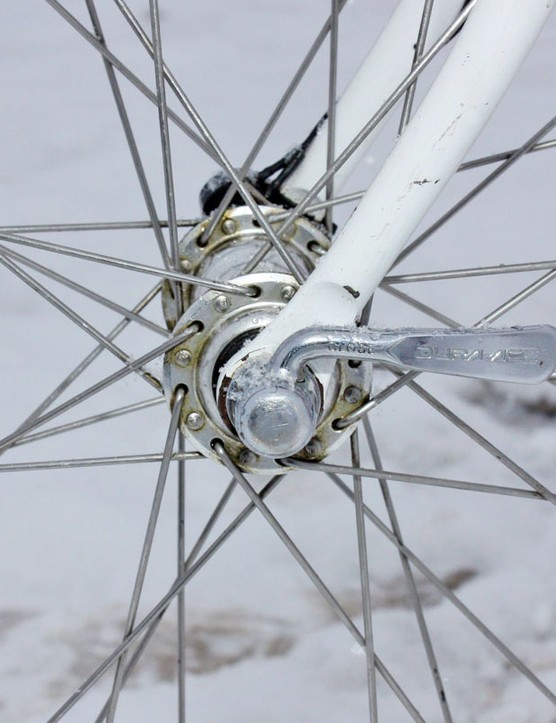Radial front lacing was generally only used for time trial wheels back in the day