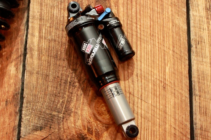 RockShox's new Monarch Plus with Dual Flow rebound control, three levels of low-speed compression adjustment and a piggyback reservoir.