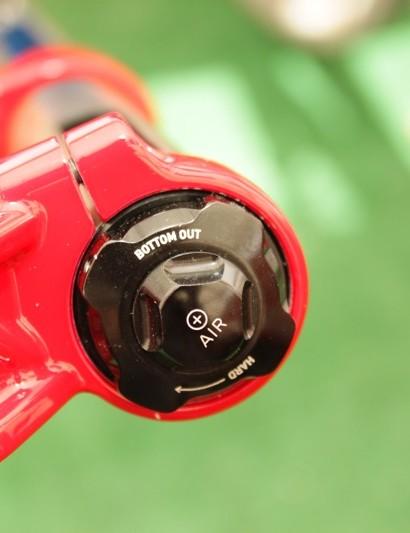 Boxxer's new bottom-out volume adjuster knob