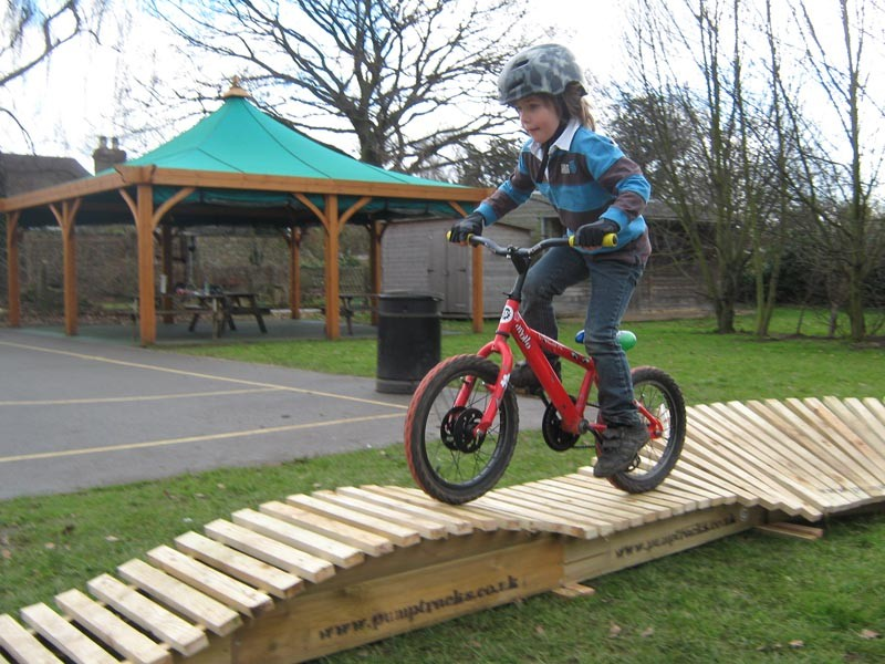 Kids-only pump track will be used in the skills sessions