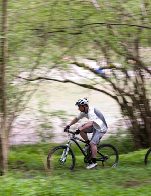 Racing through the woods at Brands Hatch
