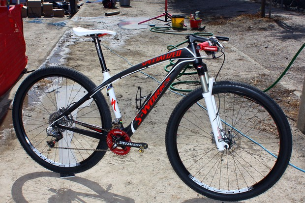 Burry Stander (Specialized Factory Team) used this Specialized S-Works Stumpjumper Carbon HT at the Sea Otter Classic